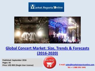 MRO: Global Concert Market Analysis 2016