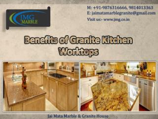 Benefits of Granite Kitchen Worktops - Jai Mata Marble & Granite House