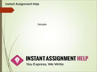 Instant Assignment Help Sample On Customer Services