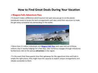 Niagara Falls Adventure Pass - How to Find Great Deals During Your Vacation
