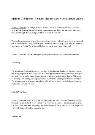Marcus Clemmons  4 Smart Tips for a New Real Estate Agent.pdf