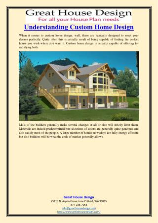 Understanding Custom Home Design