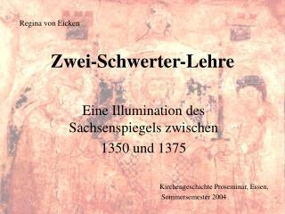 Kirchengeschichte Proseminar, Essen,  Sommersemester 2004