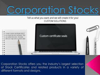 Corporate Stock Certificates - Joy of becoming an owner