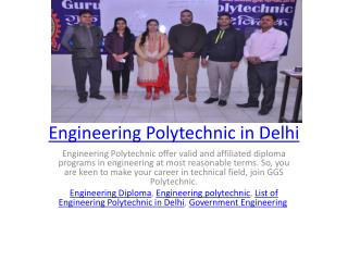 Engineering Polytechnic in Delhi