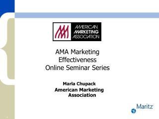 AMA Marketing Effectiveness  Online Seminar Series