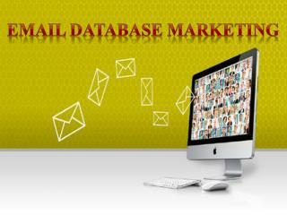 Effective Email Marketing - E Database Marketing