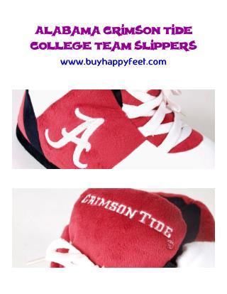 Alabama Crimson Tide College Team Slippers – BuyHappyFeet.com