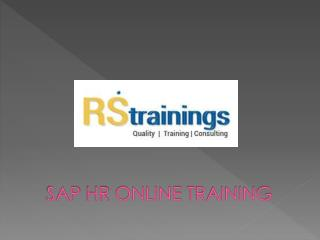 SAP HR Online Training Hyderabad