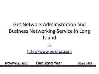 Get Network Administration and Business Networking Service in Long Island