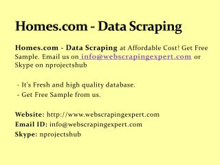 Homes.com - Data Scraping