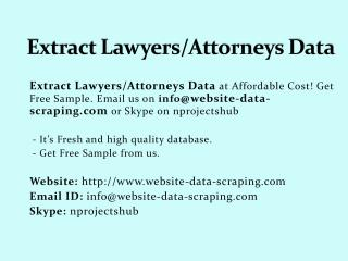 Extract Lawyers/Attorneys Data