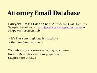 Attorney Email Database