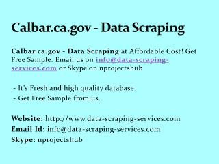 Calbar.ca.gov - Data Scraping