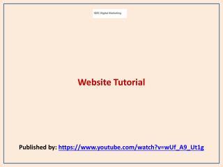 SMC Digital Marketing-Website Tutorial