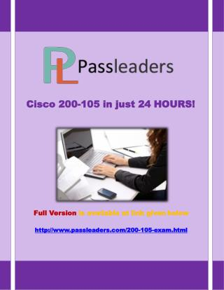 Passleader 200-105 Questions Answers