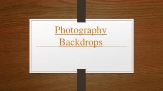 Photography Enhancements using Digital Backdrops
