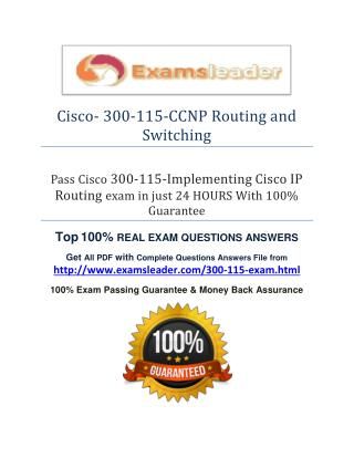 300-115 Question Answer