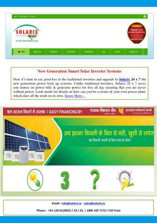 SOLAR PLANTS IN INDIA