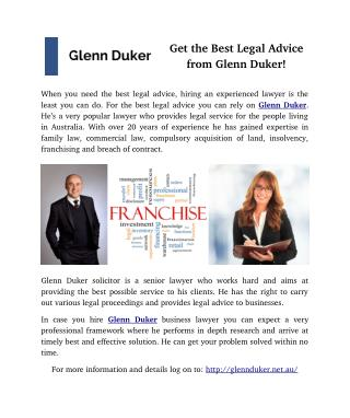Get the Best Legal Advice from Glenn Duker!