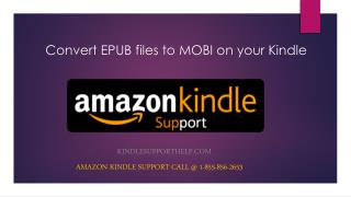 How to convert EPUB files to MOBI on your Kindle