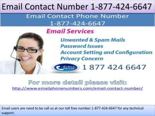 Email Contact Number 1-877-424-6647
