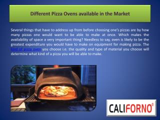 Different Pizza Ovens available in the Market