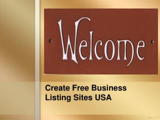 Create Free Business Listing Sites USA