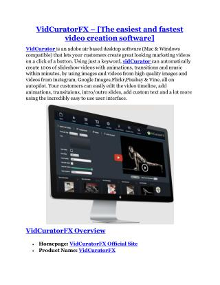 VidCuratorFX review and Exclusive $26,400 Bonus