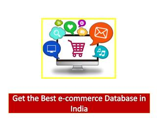 The Best e-commerce Database Provider in Mumbai