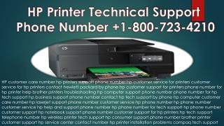 HP Printer Technical Support Center Phone Number  1-800-723-4210