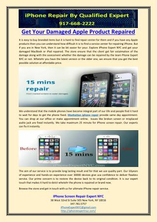 Get Your Damaged Apple Product Repaired