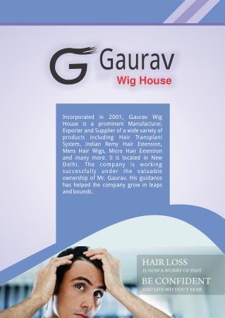 Gaurav Wig House Delhi India