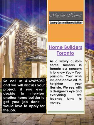 Home Builders Toronto