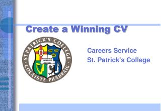 Create a Winning CV