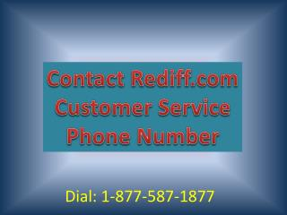 Contact Rediff.com Customer Service Number (Toll Free Number 1-877-587-1877)