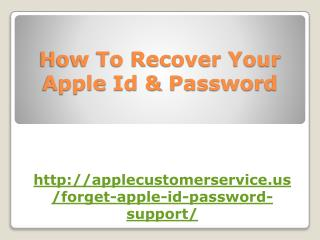 How To Recover Your Apple Id & Password
