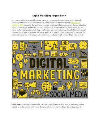 Digital Marketing Jargon: Part 4