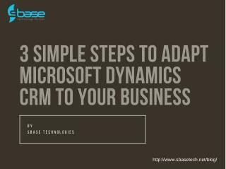 Microsoft Dynamics CRM -Sbase