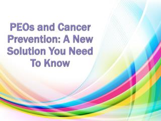 Cancer Prevention Solutions by Brian Peskin