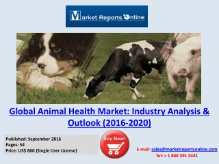 2016 Animal Health Market Analysis