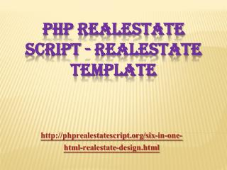 PHP Realestate Script - Realestate Template