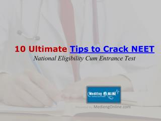 Tips to Crack NEET