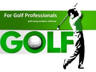 Golf Swing Analyzer Software   swingprofile.com
