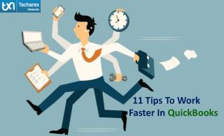 QuickBooks Cloud - 11 Tips To Work Faster