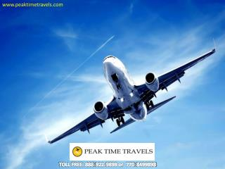 Gather Best Ticket Pricing and Deals at Peak Time Travels