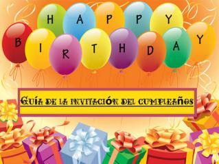Guía de la invitación del cumpleaños