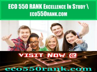 ECO 550 RANK Excellence In Study \ eco550rank.com