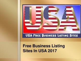 Free Business Listing Sites In USA 2017