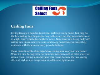Ceiling Fans Online